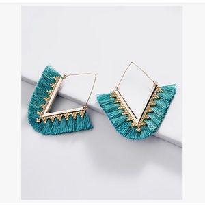 3/$25 ELLA & ELLY boho turquoise tassel earrings